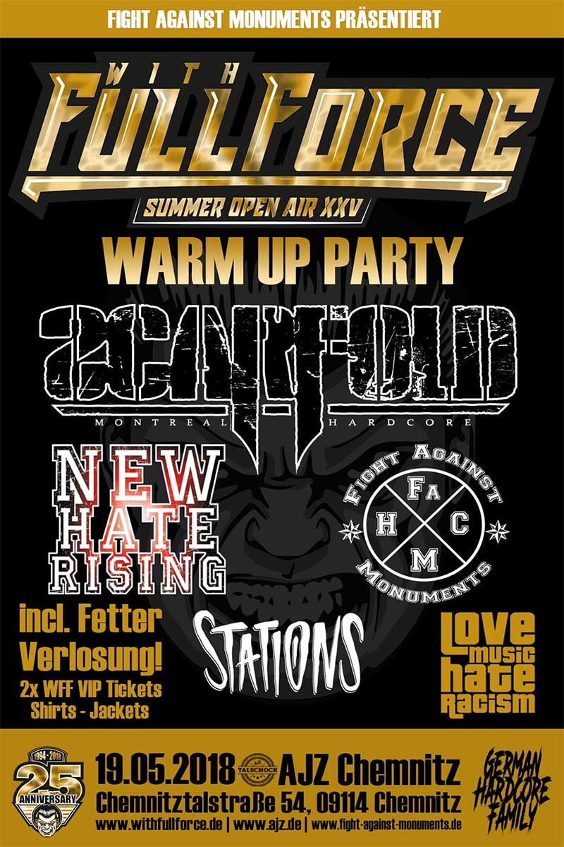 Flyer With Full Force Warmup Show 2018